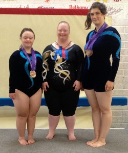 Girls with medals Special Olympics.