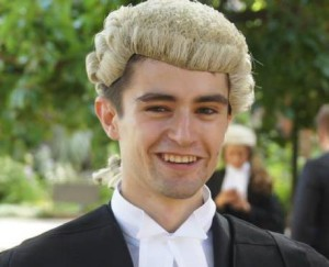 Gianni Sonvico, 24, was recently called to the bar.