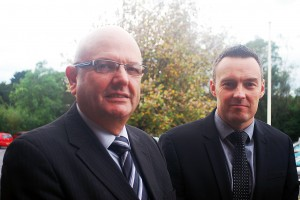 Pembrokeshire officers DC Fred Hunter (left) and Detective Inspector Anthony Evans.
