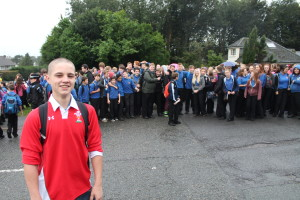 Hundreds of pupils refused to attend classes in support of Rhys Jonson