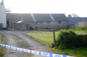 Blast scene: The Potteries, Wiston, Pembrokeshire