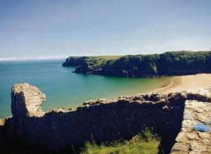 Top picnic spot: The spectacular Barafundle Beach named the top picnic spot in the UK, photo taken by Kellsey Logue