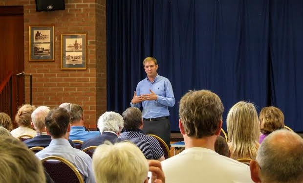 Calling meeting: Cllr Paul Miller at a previous event