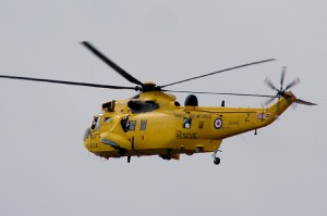 Rescue 169, a Sea King helicopter of 22 Squadron.
