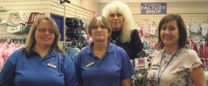Haverfordwest store: Jacqueline, Jeanette, Caroline, and Emma (Manager) are pictured