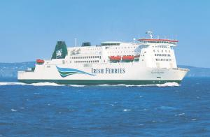 Near miss: Andrew Humble tracked in front of the ferry