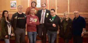 Party members: Pembrokeshire Green Party (Photo: Ben Rice)