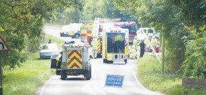 Accident Scene: Freystop, Haverfordwest on Monday