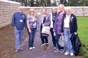 At Scolton Manor: Paul Hosker (Futureworks); Delsa Matthews (Futureworks); Patricia Leahy (Experience Counts customer); Kathy Payne (Experience Counts personal adviser); Shan Mumford (customer) and Jean Hargrave (Experience Counts personal adviser).