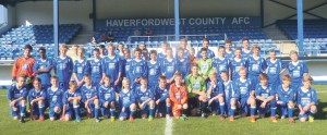 Haverfordwest County AFC: Players continue to progress.