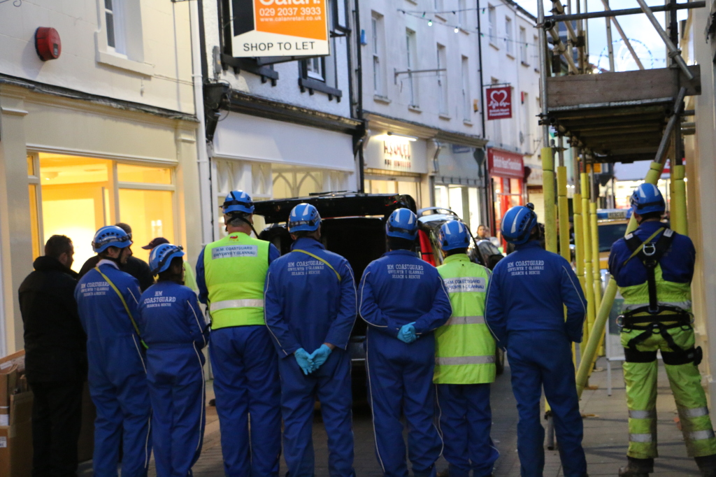 Recovery operation: Bridge Street, Haverfordwest