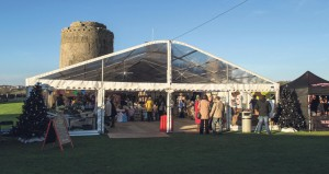 Castle Christmas: Local businesses supports Pembroke icon.