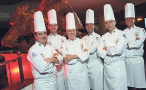 Award winners: The senior Culinary Team Wales.