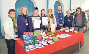 Winners: Selling their products at Pembroke Dock Market Hall