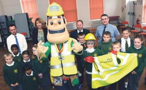 Safety first: Morganstone educate children of the dangers on a building site.