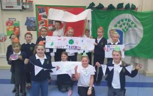 Coastlands CP School: Celebrating the achievement of their second green flag.