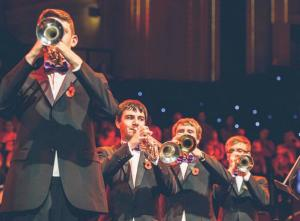 Trumpeters: Alex Morgan, Ben Lawrence, Chris Mayhew and Thomas Jordan.