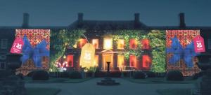 An artist's impression of 'The Erddig Glow': Light displays illuminate the 18th century house.