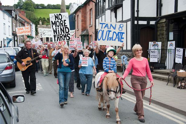 Protests: Locals did not want windfarm