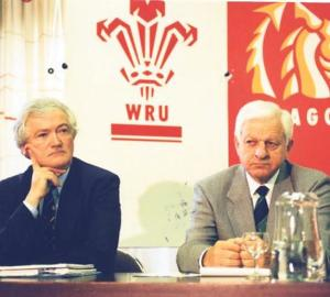 Inspired and encouraged: Ray Williams (right) during his time at the WRU