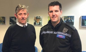 PC Celt Thomas and mental health practitioner, Edward McHugh: Supported by a team of 11 officers who have received training.