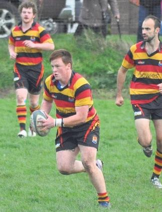 Gutsy performance: Marcus Castle put in a good performance for Cardigan in their victory over Haverfordwest