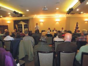 80 farmers and industry leaders attended the Dairy Crisis Summit organised by Simon Hart MP at the Hotel Plas Hyfryd.