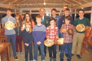 Junior competition winners: with Tony Deakin, Club Captain.