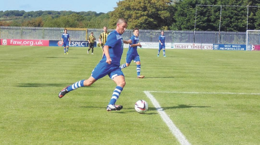 Infl uential: Nicky Palmer's pass set up the winning goal for the Bluebirds