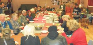 Delicious: The audience participated in making a group Palestinian meal.