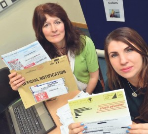 Sandra MacSparron and Emma Hanlan-Baker from the Public Protection Trading Standards team at Pembrokeshire County Council.
