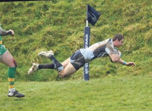 Try time: Narberth's Steve Martin continues his good try scoring form