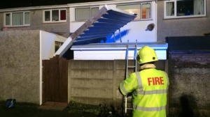 Severe weather: Rooves were badly damaged