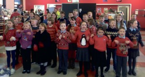 Supermarket surprise: Pupils performed at Tesco