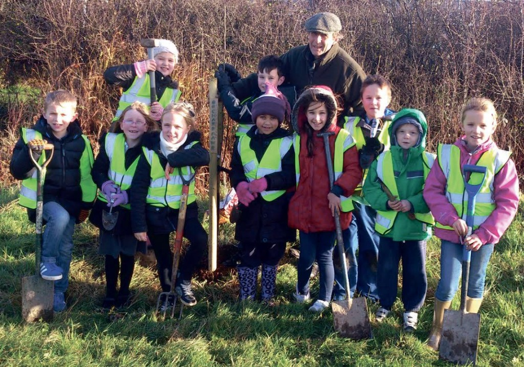 Year three and four pupils from Haverfordwest VC School planted 35 trees last year.