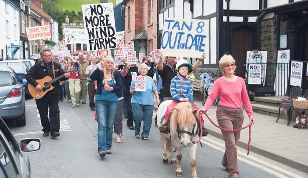 Years of protests: Powys locals did not want windfarm