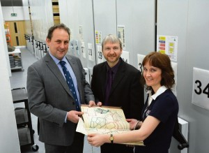 Pembrokeshire Archives: Cllr Elwyn Morse, Mike Cavanagh and Claire Orr.