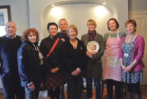 Breakfast Bake Off: The judges, contestants and a staff member of Pembrokeshire Tourism.