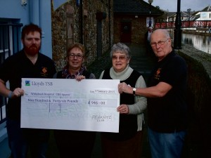 Supporting local charity: Funds go to the Cancer Day Unit at Withybush Hospital.