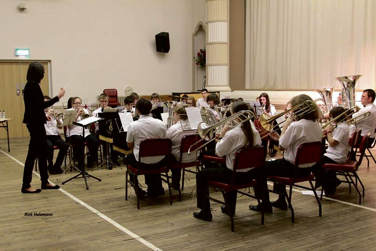 Milford Haven Junior Band: Directed by Bron Parratt.