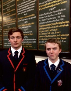 Gwion Jones and Stephen Leonard: Both offered places at Cambridge University.