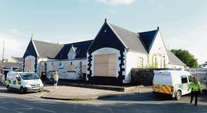 Local eyesore: To be replaced by new retail unit.