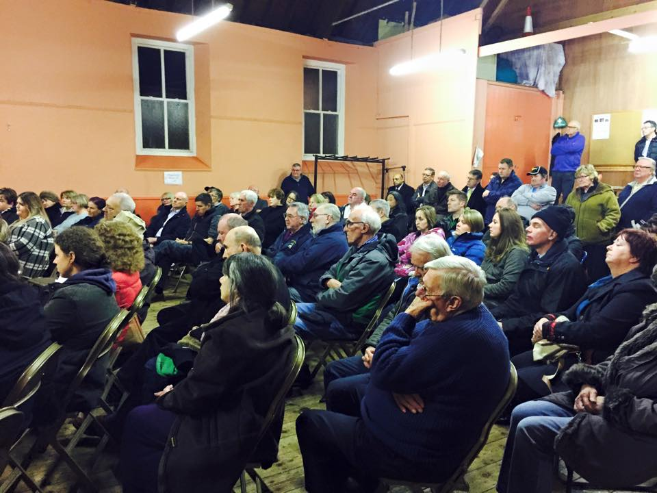 Packed meeting: Residents at St. Thomas' hall on Feb 12