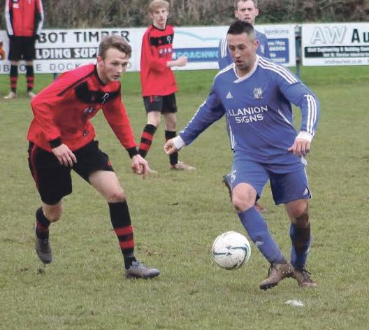 Pulled one back: Ben Nicholas (right) scored after thirty seconds of the second half.
