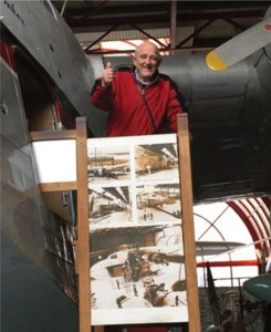 Brian Wiggins: Celebrating his 84th birthday at Solent Sky museum in Southampton.