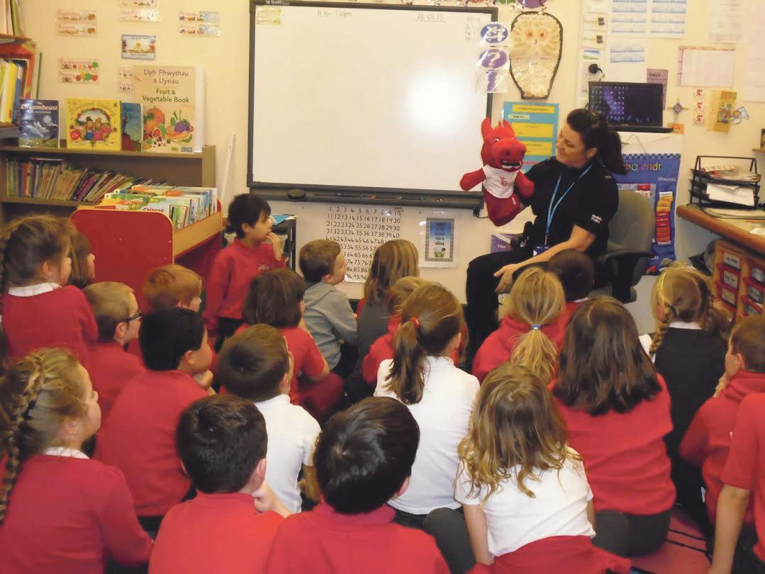 PC Davies: Teaching children about the dangers of everyday life.