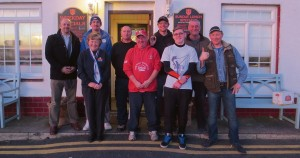 Some of the participants: Outside Amroth Arms.