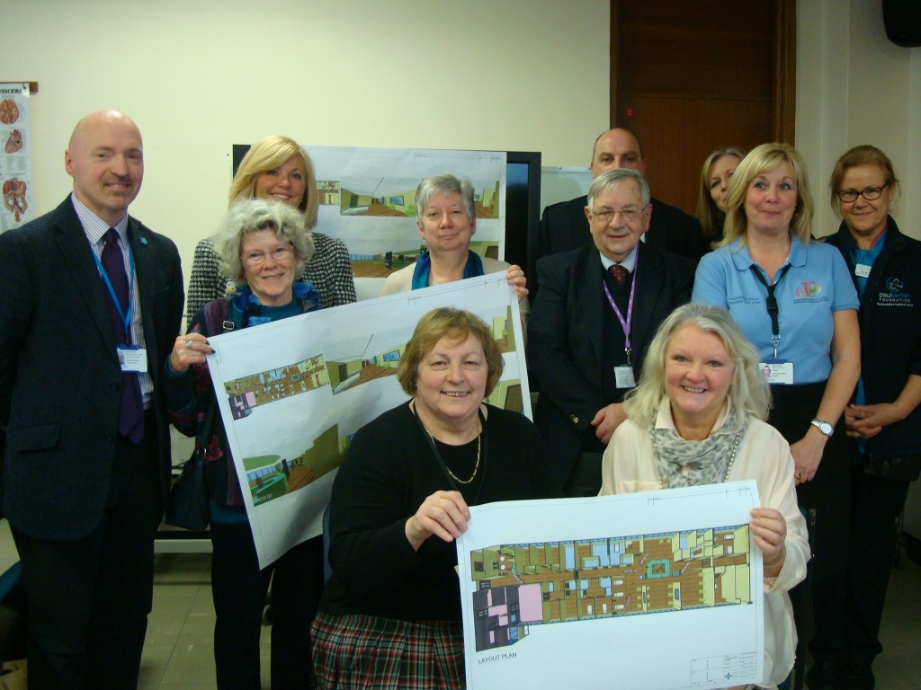 Oncology stakeholders: At Withybush Hospital during the unveiling of new ward plans
