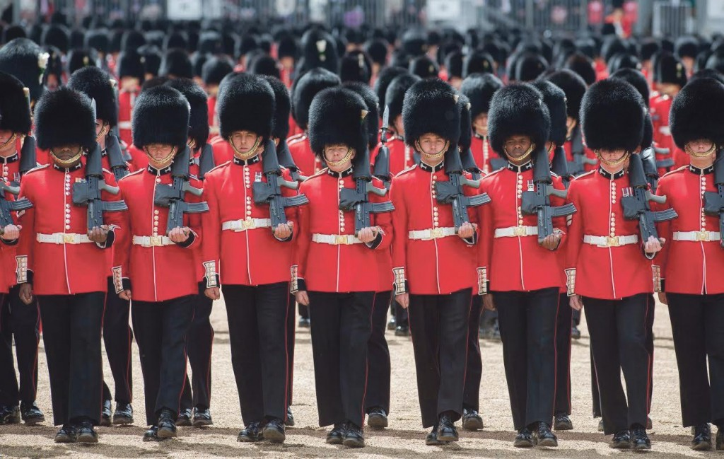 Foot guards: Welsh guards marked the centenary.