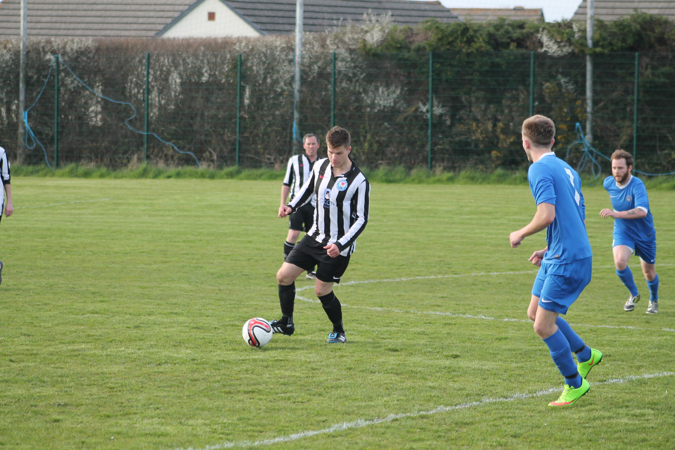 Close: Henry Durrant came close for Neyland in the first half